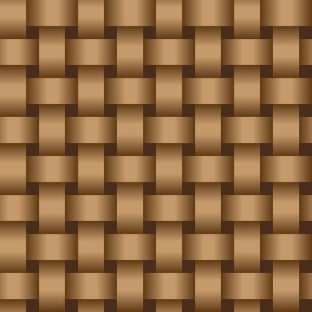 Interweaving brown tapes - an abstract texture vector eps8 Vector