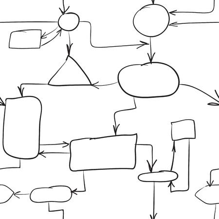 esquemas: Un esbozo - un esquema con las flechas de conexi�n y elementos vectoriales eps8