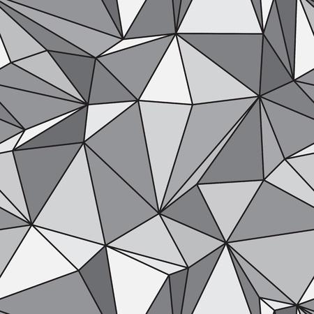 Seamless texture - gray various polyhedra vector Stock Vector - 9361404