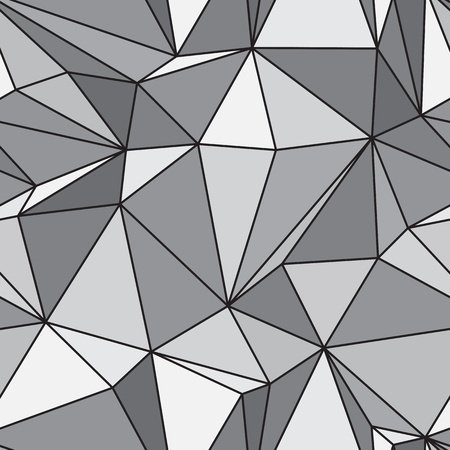 Seamless texture - gray various polyhedra vector Vector
