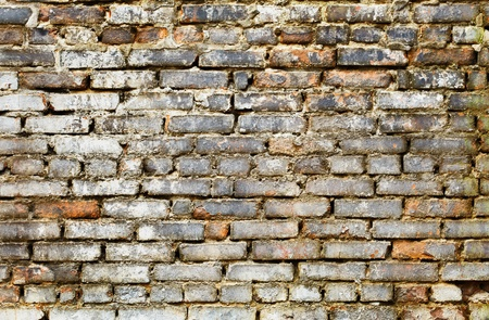mustiness: Classic dirty brick wall - poor grunge background Stock Photo