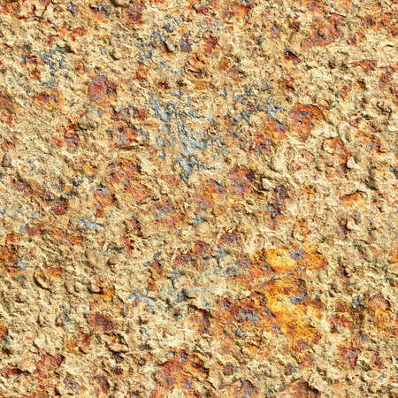 oxidized: Seamless square texture - the surface of oxidized old iron sheet Stock Photo