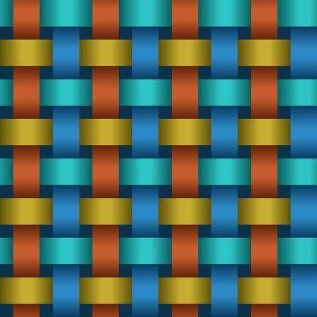 interweaving: Intreccio di nastri di colore - un eps8 texture astratta