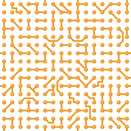Seamless texture - a bright computer circuit board Vector