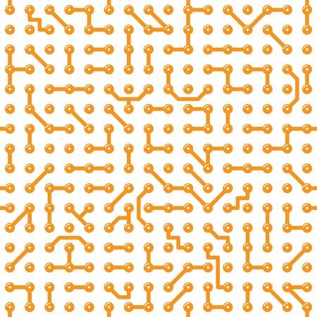 Seamless texture - a bright computer circuit board Stock Vector - 9426718