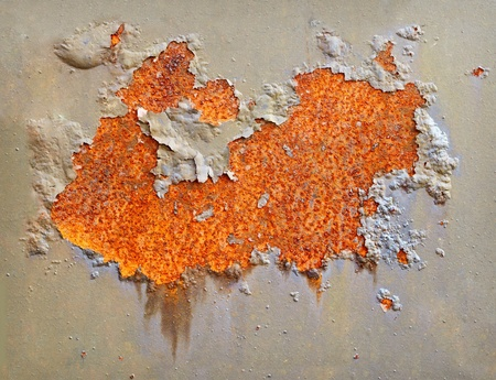 Flash rusting on the surface of the iron wall Stock Photo - 9486605