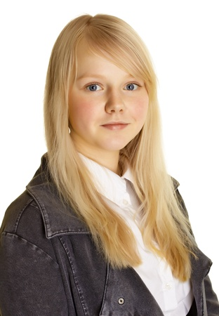 Portrait of a girl - teen with blond hair and pale skin Stock Photo - 9486601