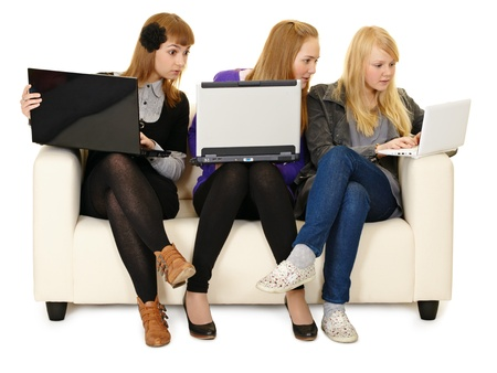 Social networks replace live communication for the youth Stock Photo - 9598798