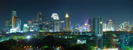megalopolis: Panorama night metropolis - Bangkok - Thailands capital