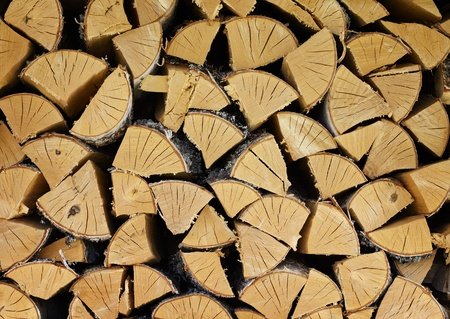 A pile of dry birch wood - a natural background Stock Photo - 10043393