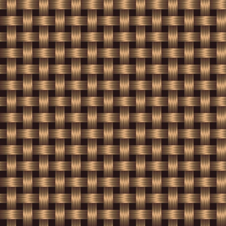 straw mat: abstract texture - the brown surface