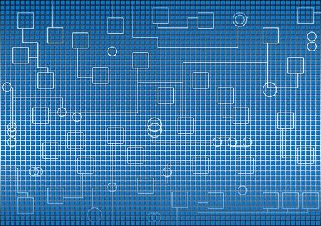 Fond bleu futuriste industrielle de haute technologie