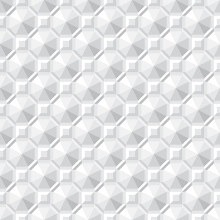 Monochrome seamless texture - square abstract pattern Vector
