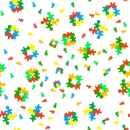 child's: Seamless color texture - a pattern of eight-bit fellows Illustration