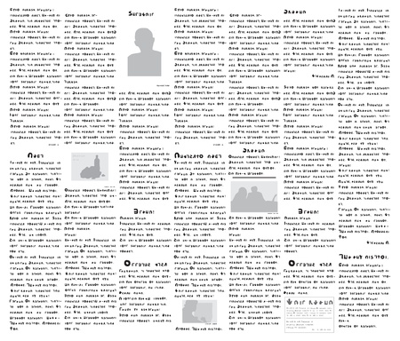 Fake newspaper on a non-existent language - vector illustration