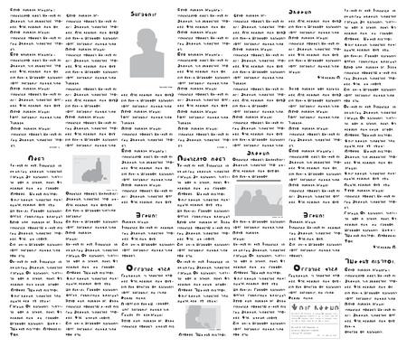 Fake-Zeitung auf eine nicht existierende Sprache - Vektor-Illustration Standard-Bild - 10444311