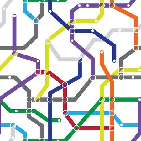 Zusammenfassung Farbe nahtlose Muster - eine U-Bahn-Plan Standard-Bild - 10981420