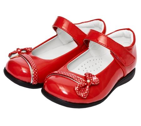 Lady roten Schuhen isoliert auf weißem Hintergrund Standard-Bild - 11244423