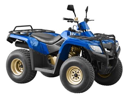 Moderne blaue Quad isoliert auf weißem Hintergrund Standard-Bild - 11244422