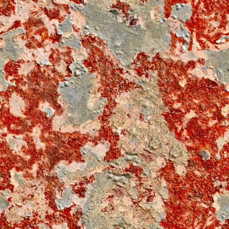 Seamless texture - Rusty and the old paint surface photo