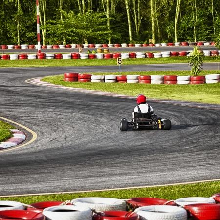 Rennstrecke für den offiziellen Met Karting Standard-Bild - 12295468