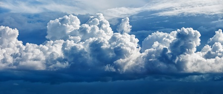 cloud formation: Large cumulus cloud - a panoramic photo (collected from two photos)