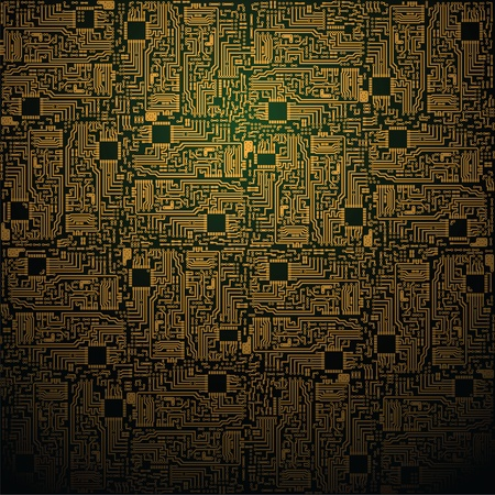 semiconductor: Vector electrotechnical square pattern - industrial background