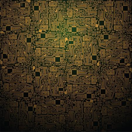 Vector elektrotechnischen quadratischen Muster - Hintergrund in der Industrie Standard-Bild - 12295470