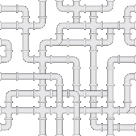 Vector seamless texture - an abstract scheme of water supply Stock Vector - 12295406