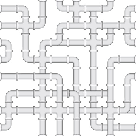 Vektor nahtlose Textur - ein abstraktes Schema der Wasserversorgung Standard-Bild - 12295406