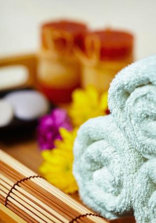 massage symbol: Still life on the massage and spa