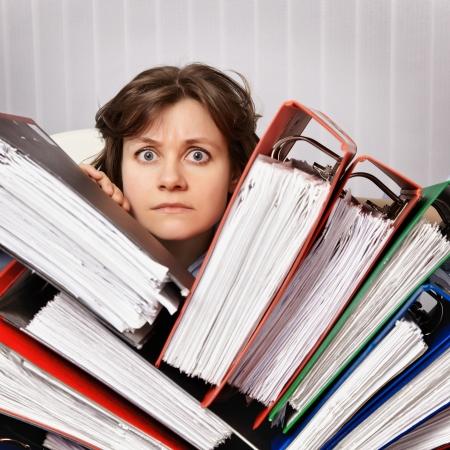 Accountant überschwemmt den Jahresabschluss für das Jahr Standard-Bild - 12295842