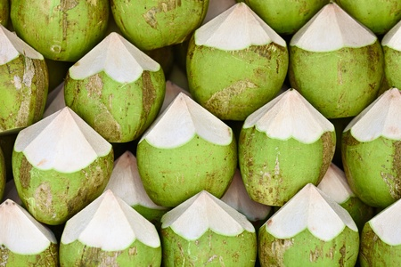 some: Coconuts are ready to sell - the background