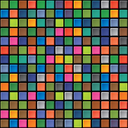 Abstract square seamless texture - iridescent tiles