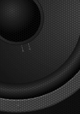 Big black speaker - an abstract vector composition Vector