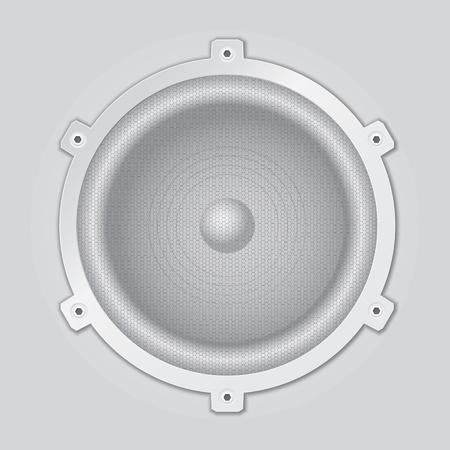 A light gray, silver loudspeaker closeup Stock Vector - 12295751