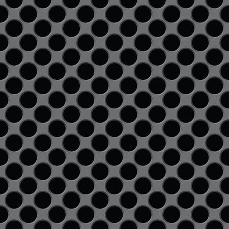 The dark gray surface with circular holes - seamless texture Stock Vector - 12295701