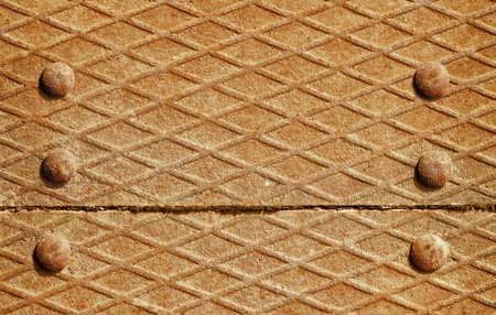 Background - the surface of the iron deck with rivets Stock Photo - 12295740