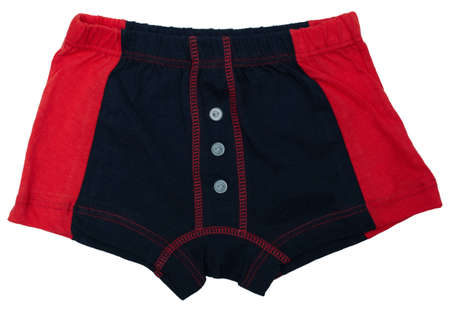 blinkers: Childrens underwear - black and red colors isolated on white background