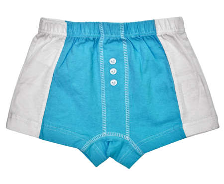 Undershorts - Grey and blue colors isolated on white background photo