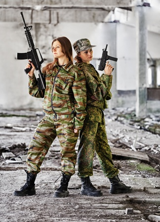 Women in war - production photo photo