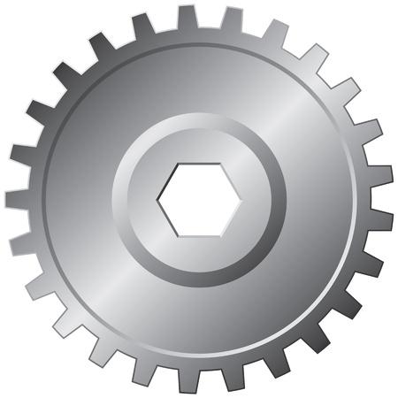 Ein großer Stahl-Getriebe - Vektor-Illustration Standard-Bild - 12492031
