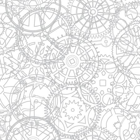 Naadloze textuur van de tijd versnellingen - vector illustratie