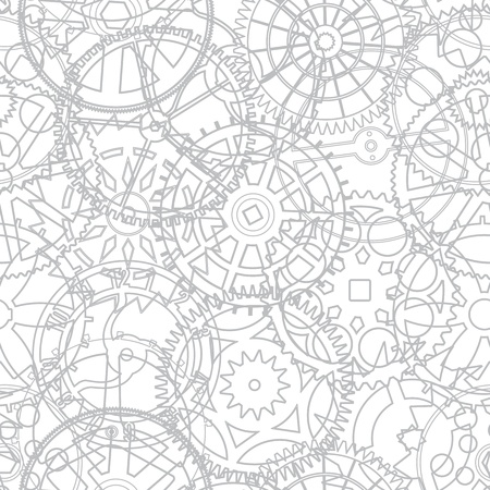 old watch: Seamless texture from the time gears - vector illustration Illustration