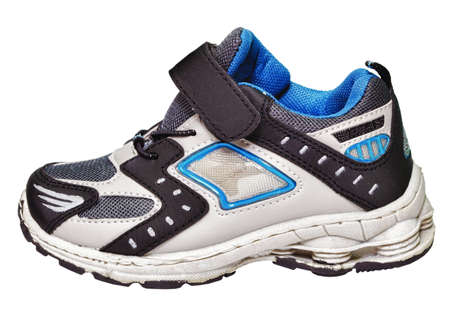 A sample of modern sports shoes isolated on white background photo