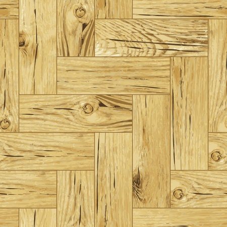 Classic wooden oak parquet flooring - seamless Vector