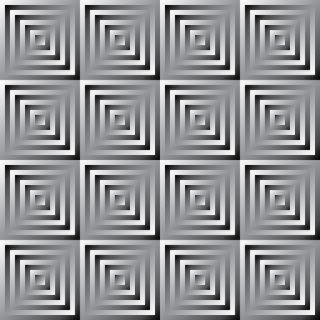 Abstract monochrome pattern of squares Vector