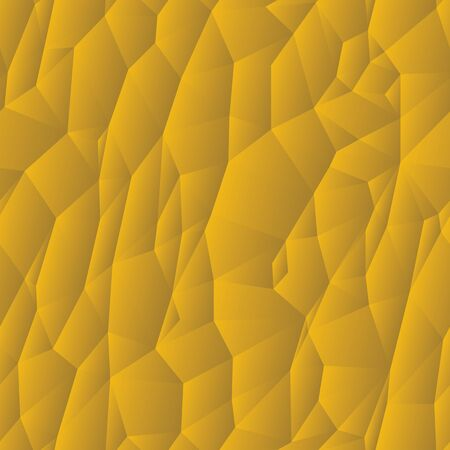 Abstract pattern of formless yellow polyhedra Vector