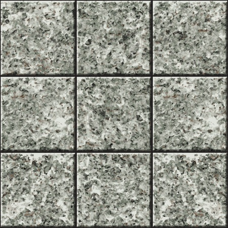 Seamless texture - a wall lined with stone tile Vector