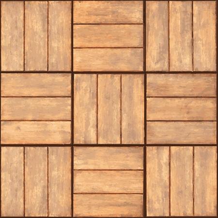 Naadloze textuur - een wand bekleed met houten plaquette Stock Illustratie
